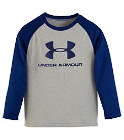 Under Armour® Boys' 2T-7 Long Sleeve Core Raglan Tee
