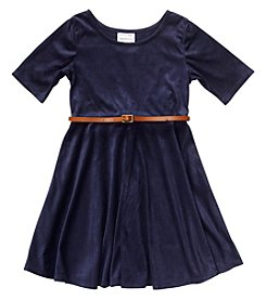 Sweet Heart Rose® Girls' 4-6X Belted Fit And Flare Dress