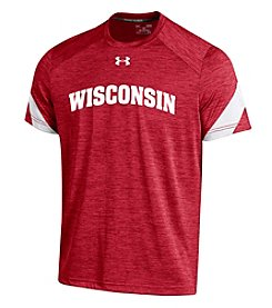 Under Armour® NCAA® Wisconsin Badgers Boys' 8-20 Microthread Short Sleeve Tee