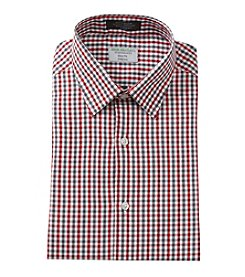 John Bartlett Statements Men's Red and Black Check Long Sleeve Dress Shirt