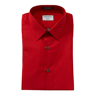 Upc 888252646661 Product Image For John Bartlett Statements Men S Solid Red Long Sleeve Dress Shirt