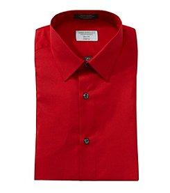 John Bartlett Statements Men's Solid Red Long Sleeve Dress Shirt