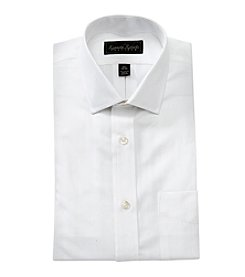 Kenneth Roberts® Men's White Solid Textured Long Sleeve Dress Shirt