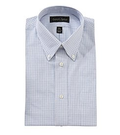 Kenneth Roberts® Men's Blue Grid Button Down Collar Long Sleeve Dress Shirt