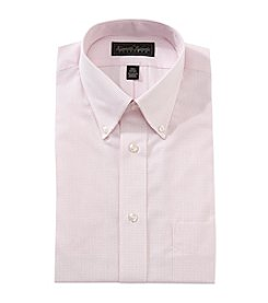 Kenneth Roberts® Men's Pink Gingham Button Down Collar Long Sleeve Dress Shirt