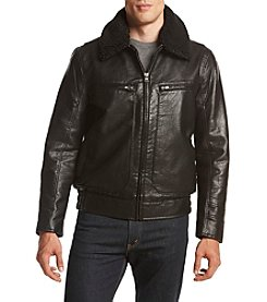 Andrew Marc® Men's Amherst Faux Leather Aviator Jacket