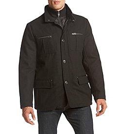 Cole Haan® Men's Wool Coat With Nylon Bib