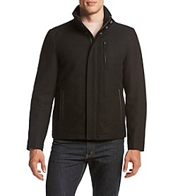 Cole Haan® Men's Wool Zip Front Jacket With Collar