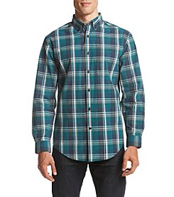 John Bartlett Consensus Men's Washed Woven Long Sleeve Button Down Shirt