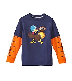 Mix & Match Boys' 2T-4T Layered Turkey Skater Tee