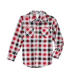 Mix & Match® Boys' 2T-7 Long Sleeve Plaid Shirt