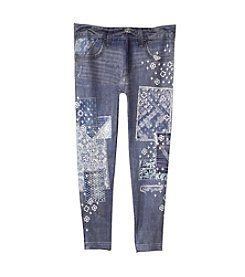 Jessica Simpson Girls' 7-16 Kaylie Gypsy Patchwork Seamless Leggings