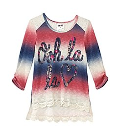 Belle du Jour Girls' 7-16 Long Sleeve Ooh La La Top