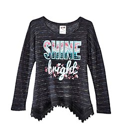 Belle du Jour Girls' 7-16 Long Sleeve Shine Bright Top