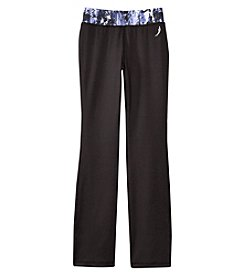 Exertek® Girls' 7-16 Printed Waistband Yoga Pants