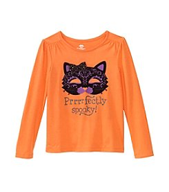 Mix & Match Girls' 4-6X Long Sleeve Prrrrfectly Spooky! Tee
