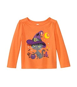 Mix & Match Girls' 2T-4T Long Sleeve Bewitching Kitty Tee