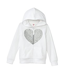 Mix & Match Girls' 2T-6X Glitter Heart Zip-Up Hoodie
