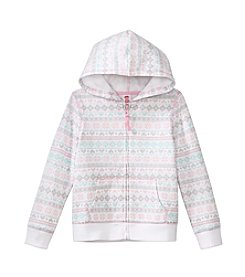 Mix & Match Girls' 2T-6X Fair Isle Zip Up Hoodie