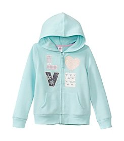 Mix & Match Girls' 2T-6X Wintery Love Zip-Up Hoodie