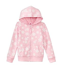 Mix & Match Girls' 2T-6X Snowflake Zip Up Hoodie
