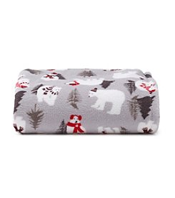 LivingQuarters Polar Bears Micro Cozy Throw