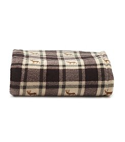 LivingQuarters Deer Plaid Micro Cozy Throw