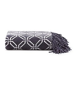 Cuddl Duds® Printed Flannel Fleece Throw With Fringe