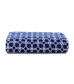 LivingQuarters Trellis Patterned Micro Cozy Blanket