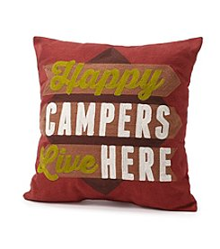 Ruff Hewn Happy Camper Decorative Pillow