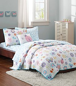 Mi Zone Kids Fluttering Farrah Complete Coverlet Bed Set