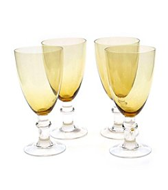 Certified International Set of 4 All Purpose Dark Amber Goblets
