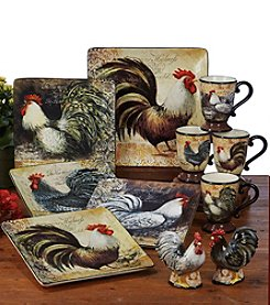Certified International by Susan Winget Vintage Rooster Dinnerware Collection