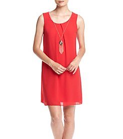 A. Byer Bow Keyhole Back Dress With Necklace