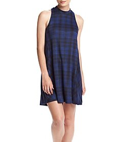 Trixxi® Plaid Smock Dress
