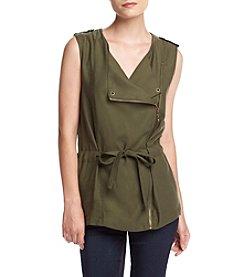 Sequin Hearts® Zip Front Utility Vest