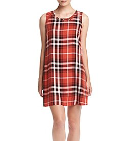 Sequin Hearts® Plaid Shift Dress