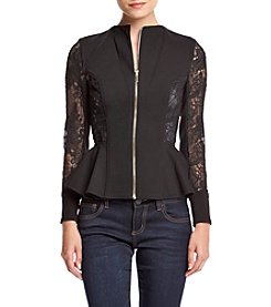 XOXO® Lace Peplum Jacket
