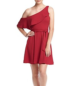 XOXO® One Shoulder Ruffle Dress