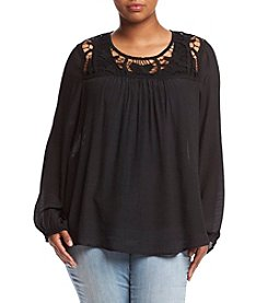 Living Doll® Plus Size Cross Hatch Top