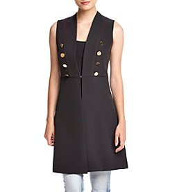 XOXO® Button Detailed Long Vest