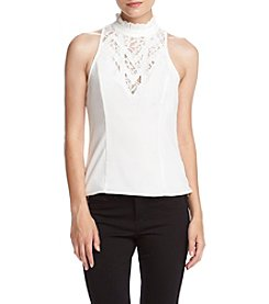 XOXO® Lace Cutout Top