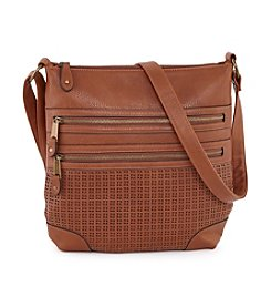Ruff Hewn Double Zip Front Perfed Convertible Crossbody