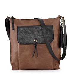 GAL Two Toned Flap Crossbody