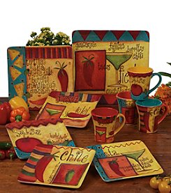 Certified International by Bernadette Deming Salsa Dinnerware Collection