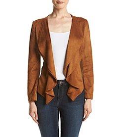 Relativity® Faux Suede Cascade Jacket