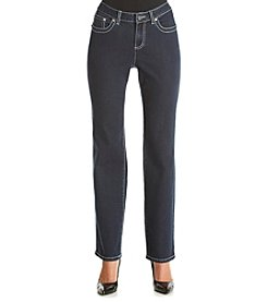 Earl Jean® Straight Leg Jeans With Asymmetrical Flap Pockets