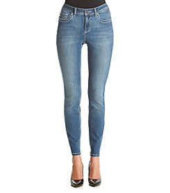 Earl Jean® Skinny Jeans With Chevron Stitch Flat Pockets