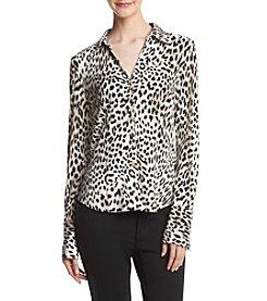 Calvin Klein Cheetah Blouse