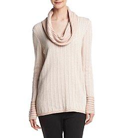 Calvin Klein Cowl Neck Grid Sweater